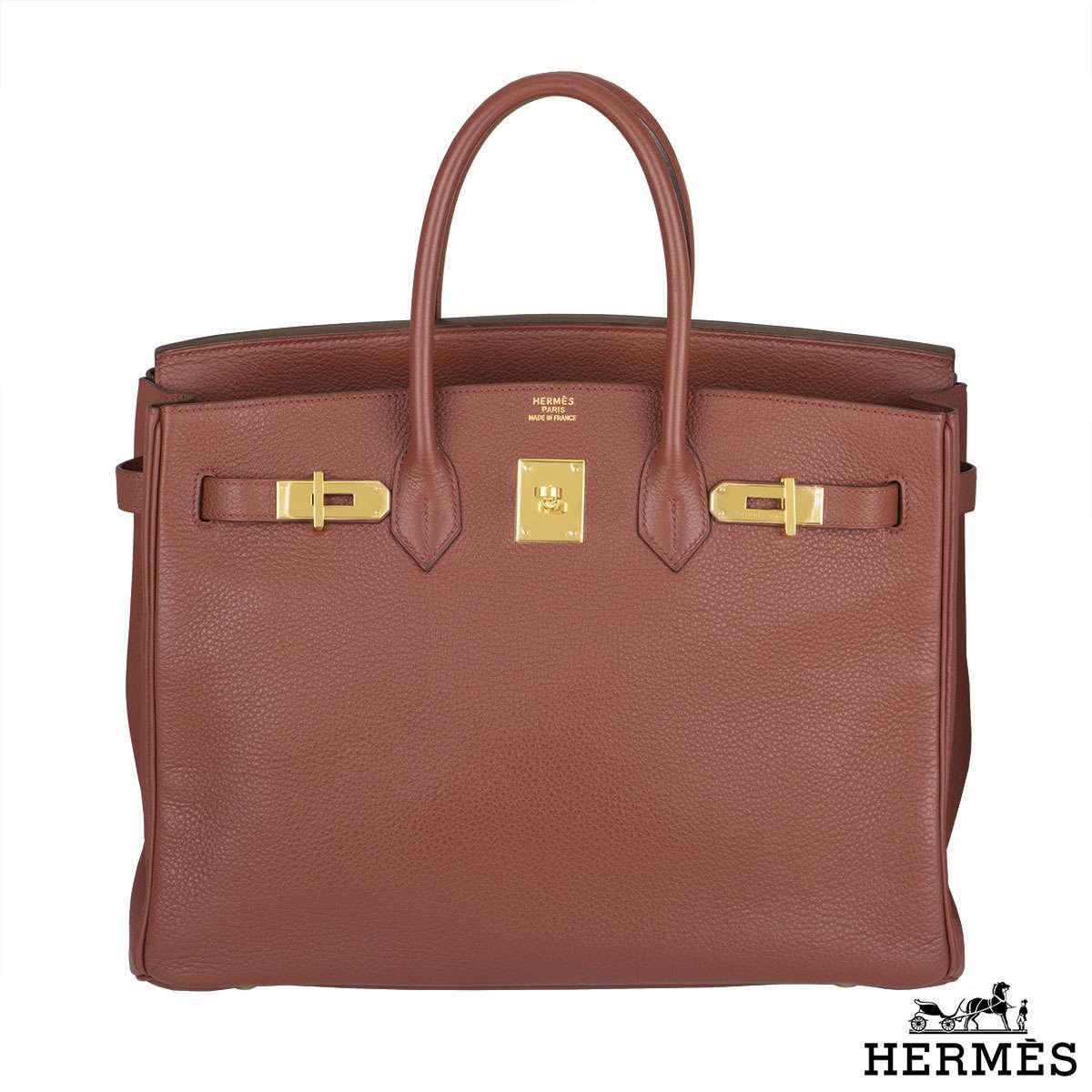 Hermes Birkin 35cm Sienne Handbag